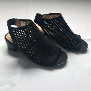 American Eagle Black Cut Out Wedges